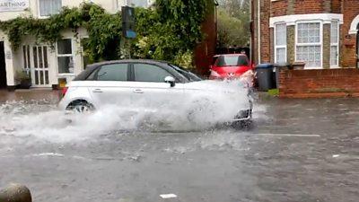Flooding in Felixstowe