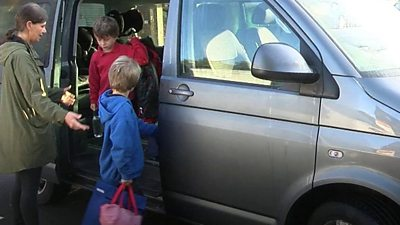 Three families measure how much air pollution affects them on the school run.