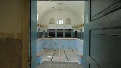 Swimming pool inside Wünsdorf base