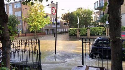 Finsbury Park flooding