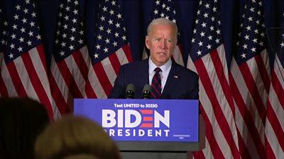 Joe Biden on stage
