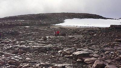 Barren land where Icleand's Okjokull glacier once stood