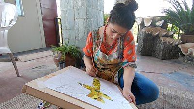 'I take out anger and sadness through art'