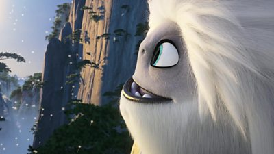 A yeti in a scene from Abominable