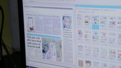 The digital version of a Kenyan newspaper
