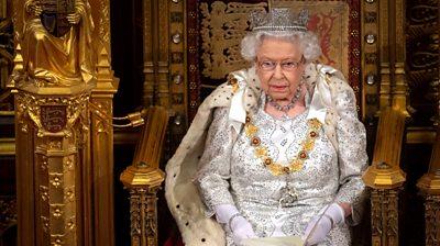 Queen Elizabeth delivering Queen's Speech