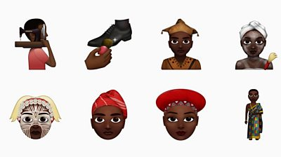 African emojis showing traditional dress