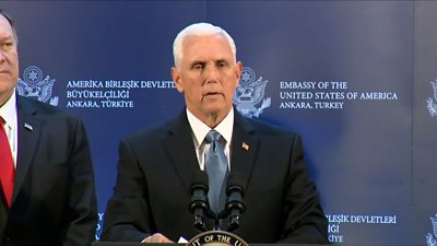 The vice-president confirmed that all military operations will be paused for five days.
