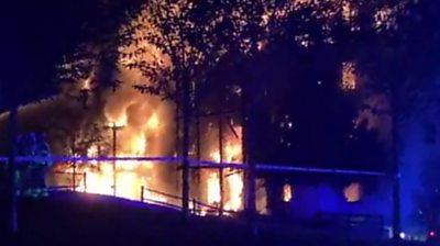 Worcester Park fire