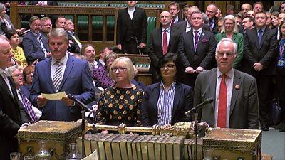 Queen's Speech votes are announced