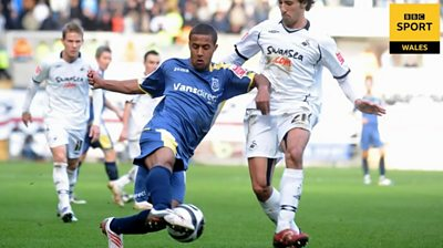 Wayne Routledge while playing for Cardiff City