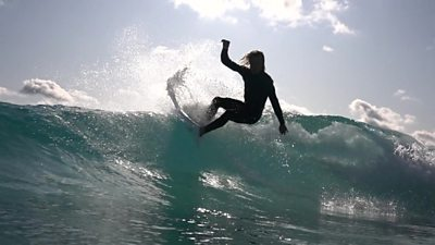 Surfer at The Wave
