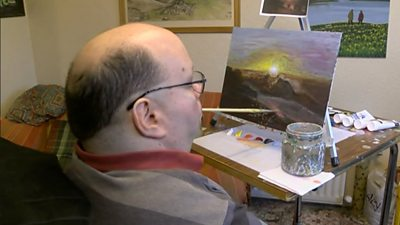 Artist Illustrates Children S Book Using Only His Mouth Bbc News