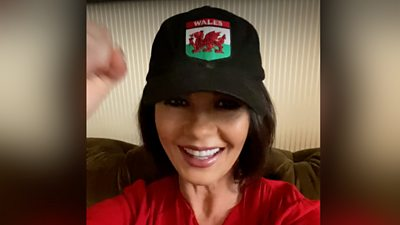 Well-known figures wish the Welsh rugby team luck ahead of the semi-final on Sunday.