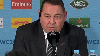 Rugby World Cup: New Zealand coach Steve Hansen angered by a reporters question