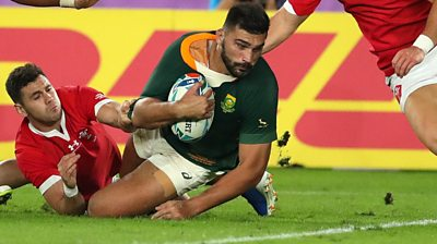 Watch best moments as South Africa beat Wales to reach World Cup final