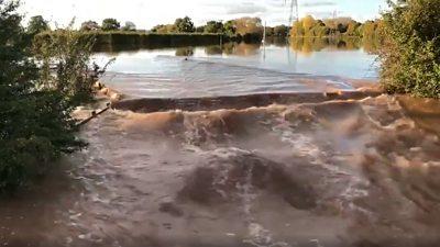 Flood plain at Powick