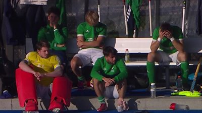 Ireland player dejected after defeat to Canada