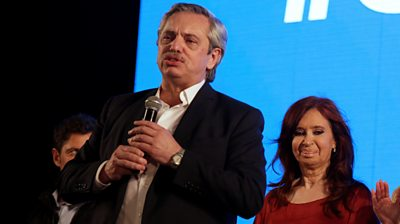 Alberto Fernadez and Christina Kirchner de Fernandez