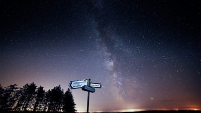 The view of the stars from the mountain road between Llanllwni and Rhydycymerau