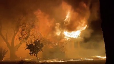 Thousands of residents have been forced to evacuate northern California after a ravaging wildfire.