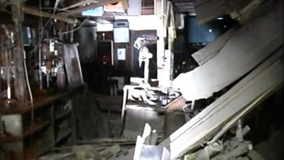 Footage released by the Crown Office shows the aftermath of the Clutha helicopter disaster.