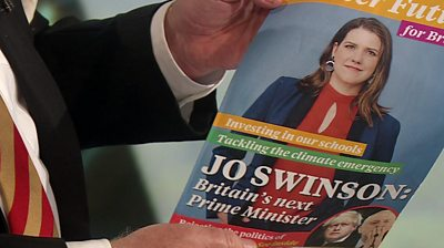 Jo Swinson image on election leaflet