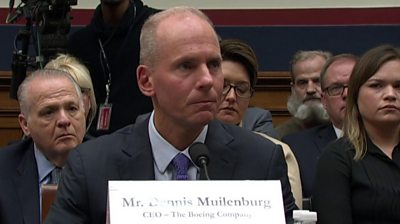 Steve Muilenburg was questioned about his million dollar salary after two deadly 737 Max crashes.