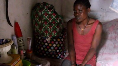 Miatta is a former child soldier in Liberia and says she was forced to fight when she was 14. Now she wants to get her life back.
