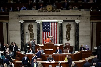 The democratic-controlled chamber approves a resolution formalising the impeachment inquiry process.