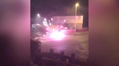 Firework going off