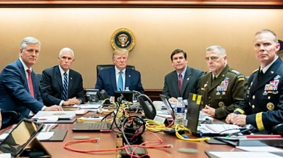 Trump and military officials