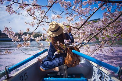 A tourist in Japan