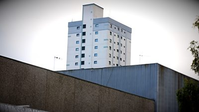 A tower block in Cwmbran