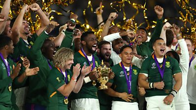 South Africa winning the 2019 Rugby World Cup