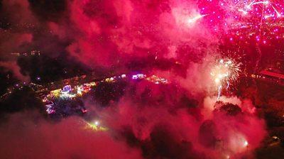Fireworks over King's Lynn, Norfolk
