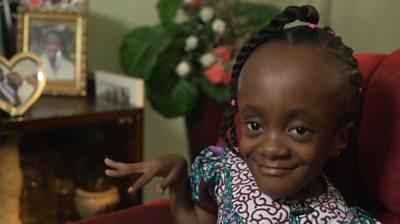 Efia Ayeyi smiles at the camera