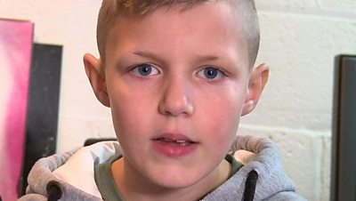 Eight-year-old rapper
