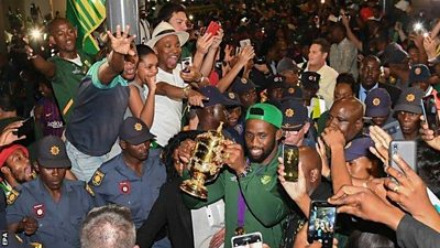 Springboks captain and fans
