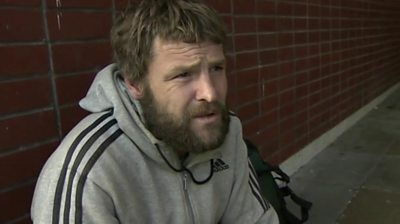 A homeless man in Hartlepool says a number of beggars in the town are only pretending to be in need.