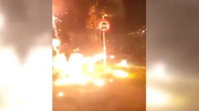 Police were attacked when responding to a series of incidents in the region.