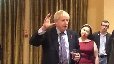 Boris Johnson speaking in Northern Ireland