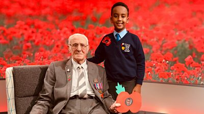 D-Day veteran Jack and schoolboy Sinar