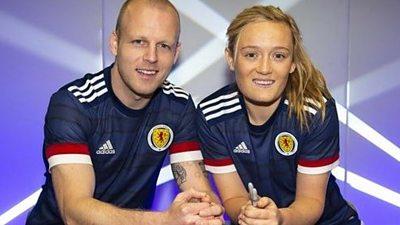 Scotland's Steven Naismith and Erin Cuthbert