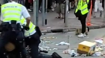 Two people are in critical condition after another day of violent demonstrations in Hong Kong.