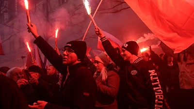 Far-right Polish nationalists celebrate independence