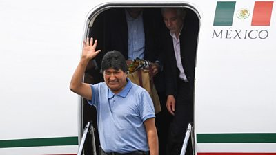 Morales arrives in Mexico