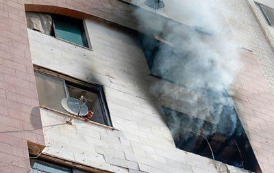 Smoke after airstrike in Gaza