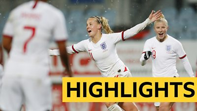 Highlights: England earn victory over Czechs with late winner