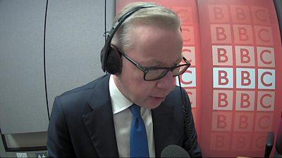Michael Gove in BBC studio
